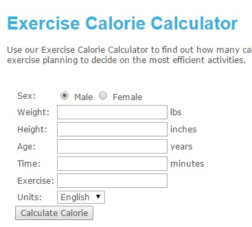 exercise calorie calculator and exercise tracker diet tools blog