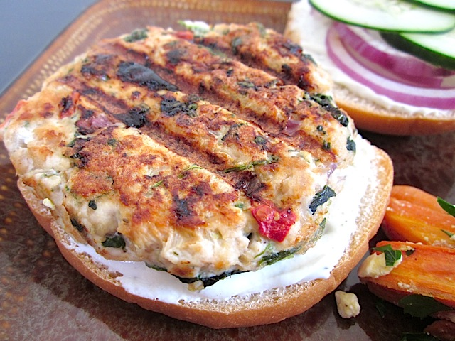 Greek Turkey Burgers from Budget Bytes