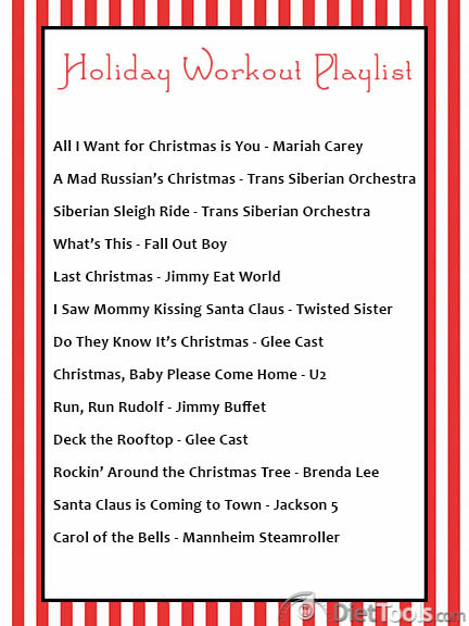 holiday workout playlist