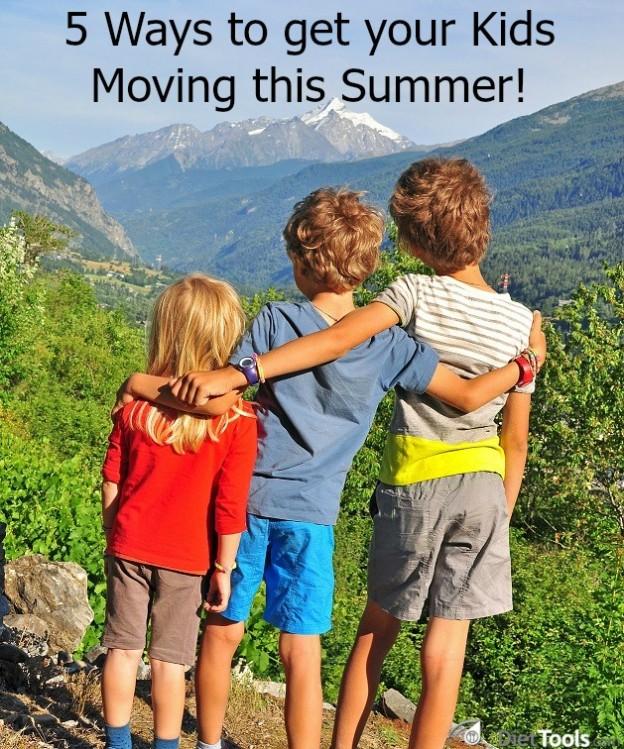 Children walking in mountains